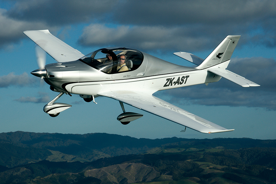 Tecnam Astore flying in New Zealand