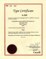 Canadian TC A-269 Issue 1 – TECNAM Model P2010