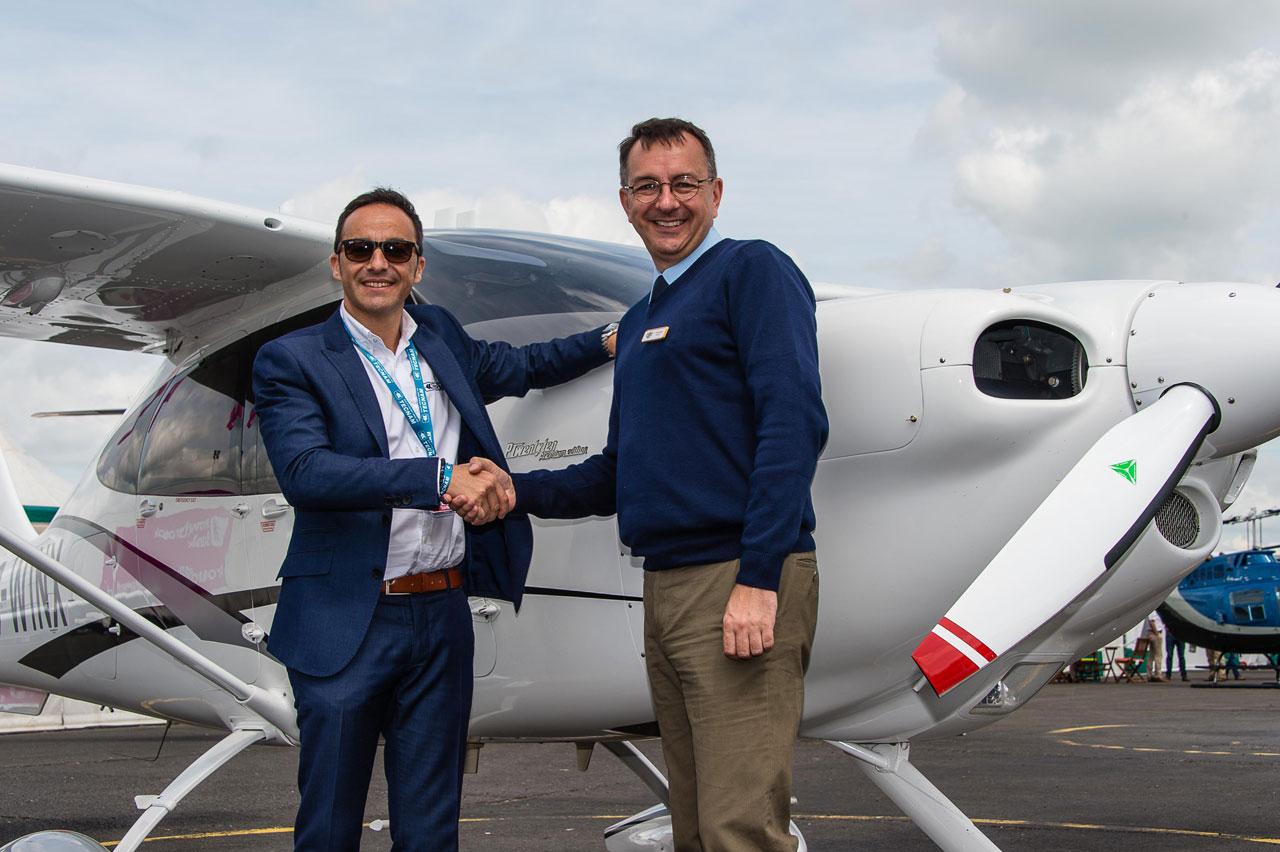 from left: Walter Da Costa, Tecnam Global Sales Director, Chris Brook, Jersey Aero Club Director