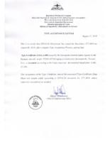 P2002JF TC A 006 acceptance letter