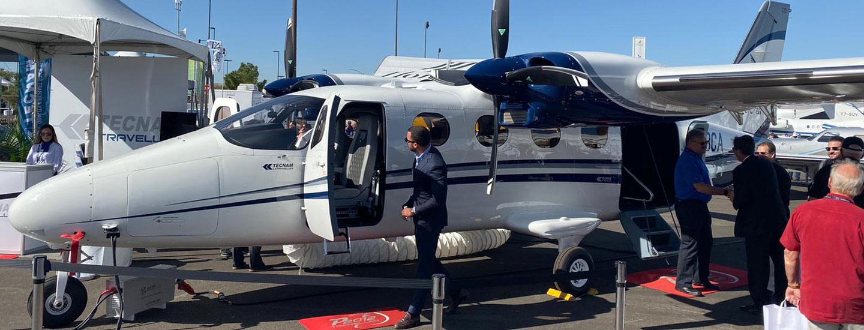 P2012 Aircraft by Tecnam Dimensions at NBAA LAS VEGAS