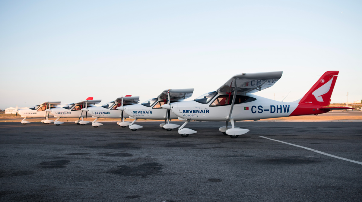 P2008 JC fleet in Portugal Sevenair Academy