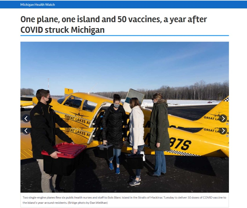 NATA - One plane, one island, 50 vaccines_hero